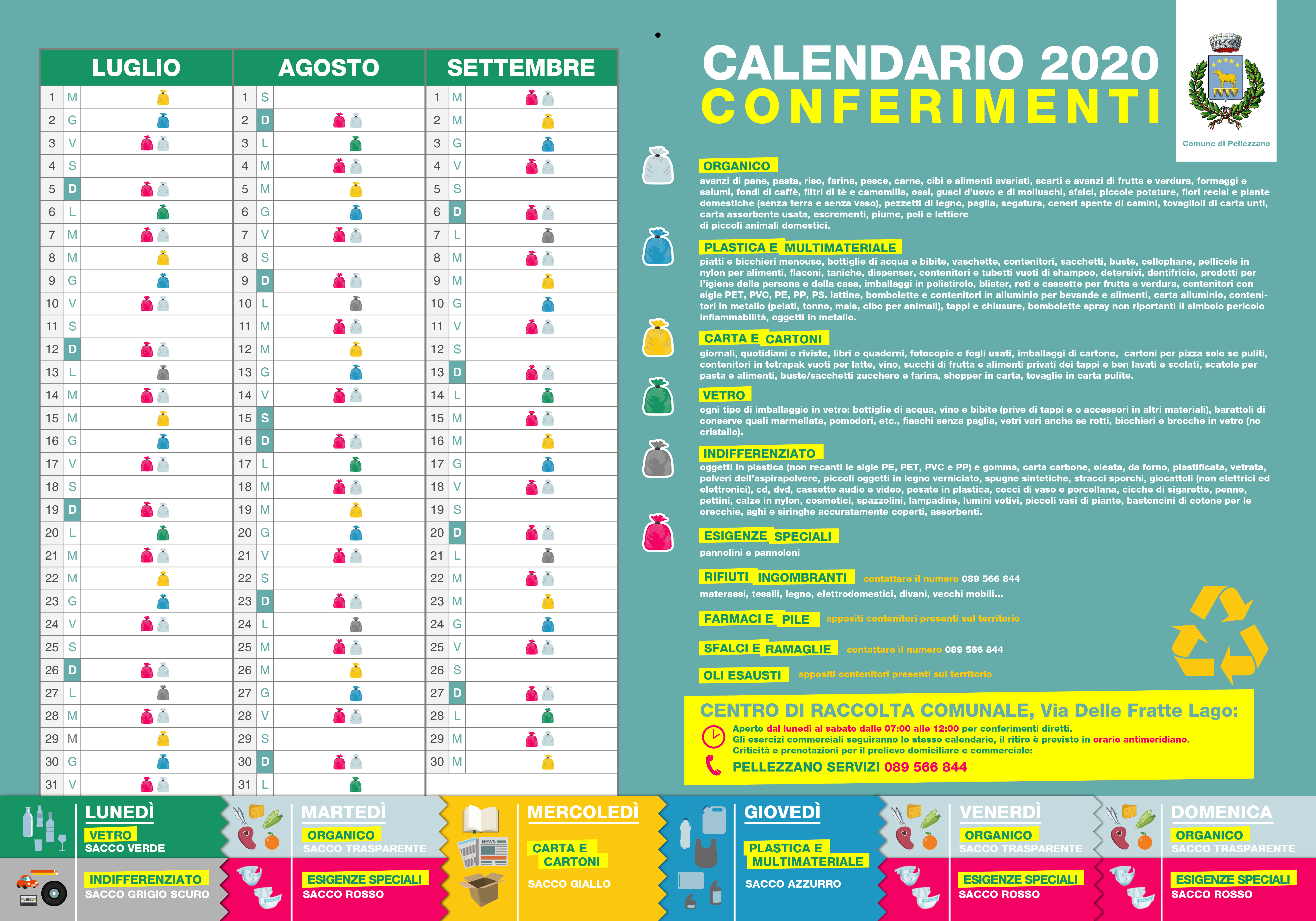 Calendario Raccolta Differenziata Acerra 2021 Disponibile il nuovo calendario per la raccolta differenziata